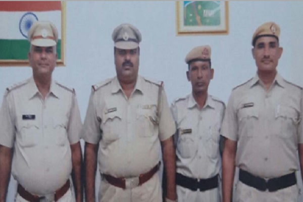 inspector jaikishan team selected hero of the week in faridabad