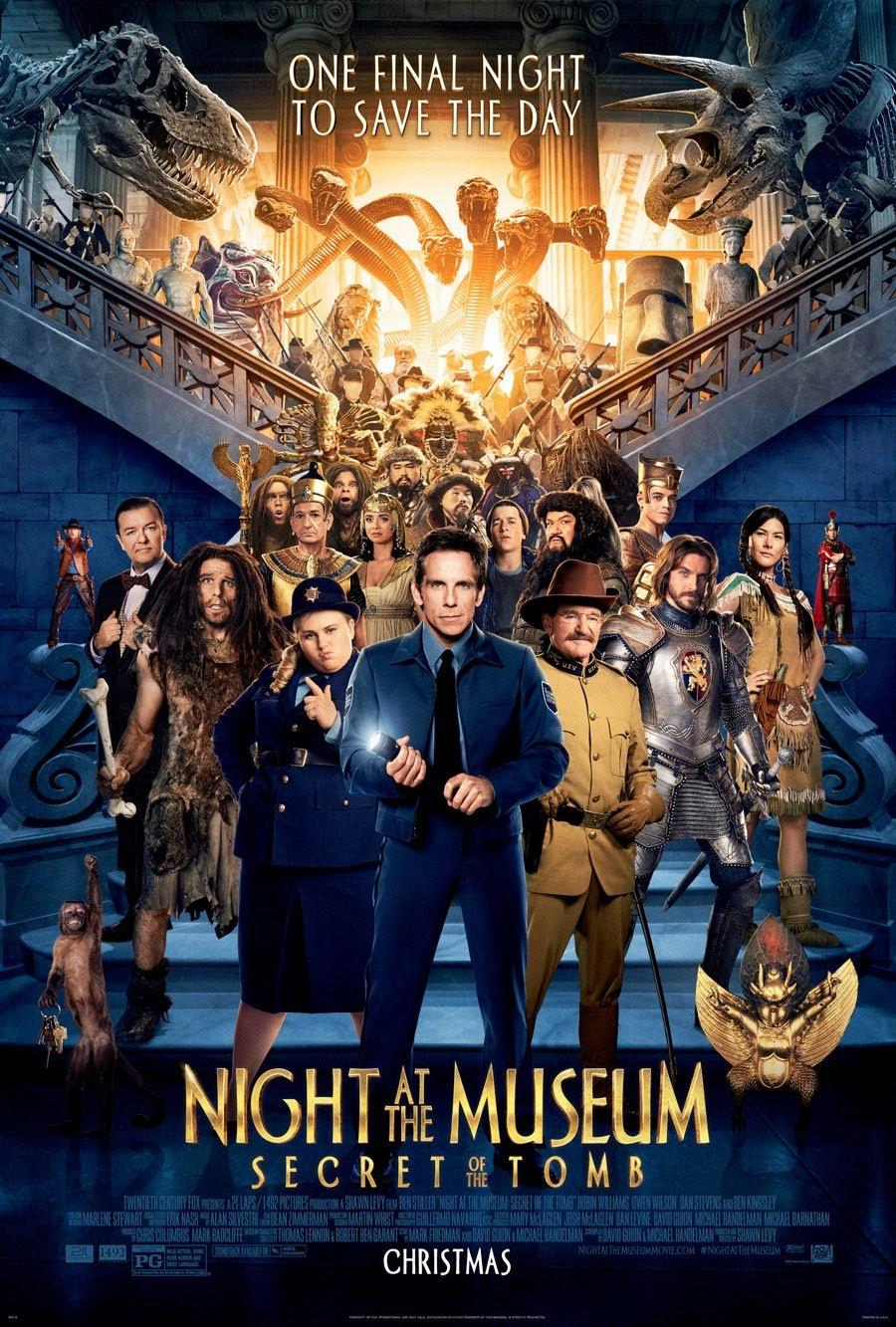 Night at the Museum 3 Secret of the Tomb (2014) ไนท์ แอท เดอะ มิวเซียม ความลับสุสานอัศจรรย์ [HD]