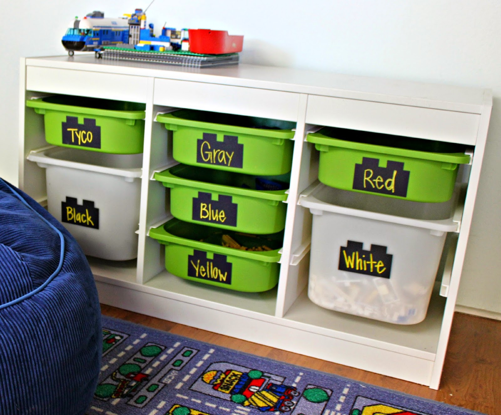 Kutz Paper Scissors Lego Storage System