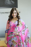 Actress Angela Krislinzki in Pink Saree Blouse Exclusive Pics March 2017 ~  109.JPG