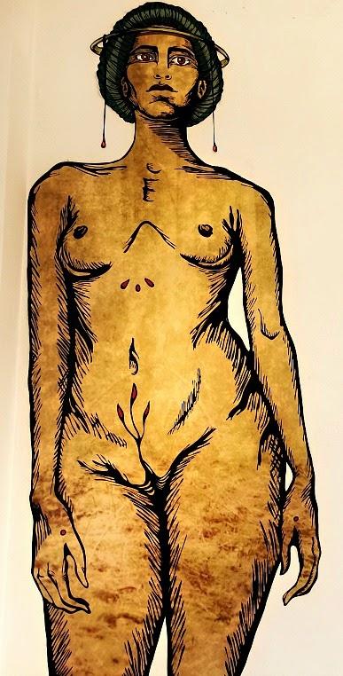 Mulher Nua - Quadro em exposição na Casa da Cultura Dide Brandão, Itajaí