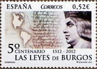 V CENTENARIO DE LA PROMULGACIÓN DE LAS LEYES DE BURGOS