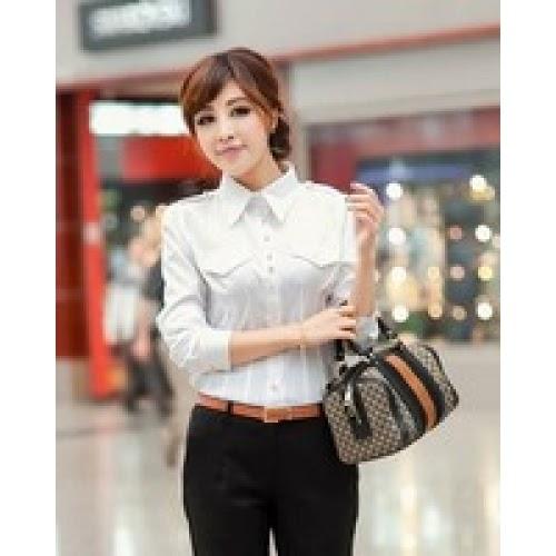 Baju Kerja Untuk Wanita Korean Style Model Baju Korea Terbaru