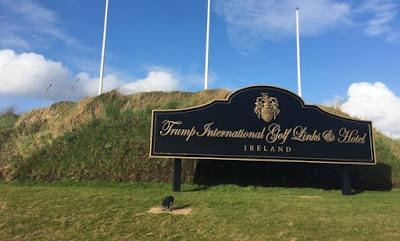 Placa para campo de golfe
