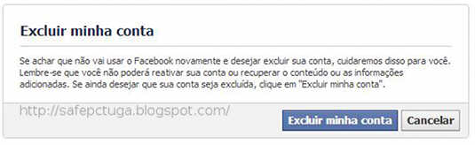 excluir conta facebook eliminar