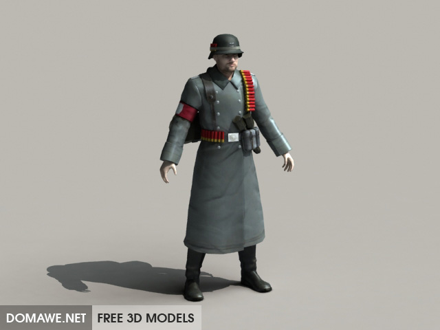 DOMAWE net: Nazi Soldiers 3D Model Free Download - 1