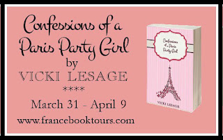 """Confessions of a Paris Party Girl"" by Vicki Lesage is on tour with France Book Tours"