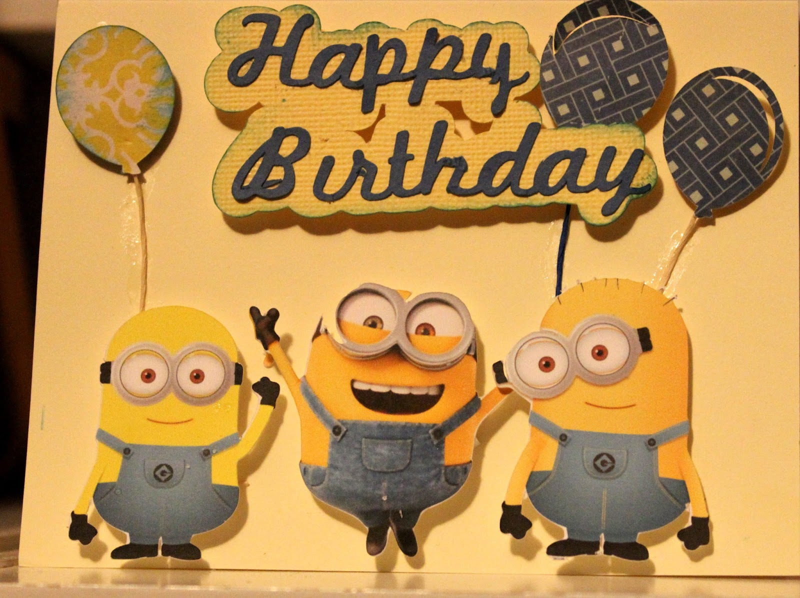 picture relating to Free Printable Minions Birthday Card titled Grammas Content Position