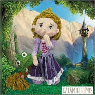 patron amigurumi Rapunzel galamigurumis