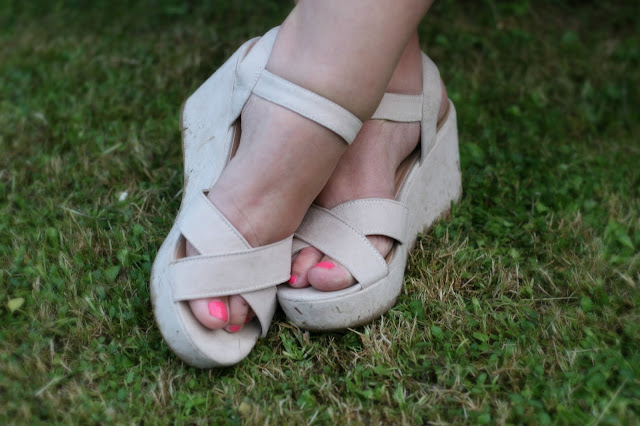 Nude Wedges Flatforms Primark Low Cost Affordable