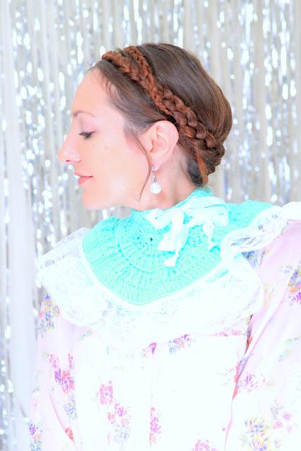 Let Them Eat Cake Crochet Neck Warmer in Mint by Mademoiselle Mermaid