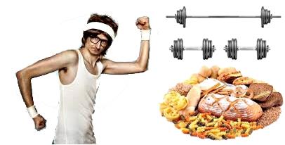 Flaco alimentos pesas masa muscular dinero