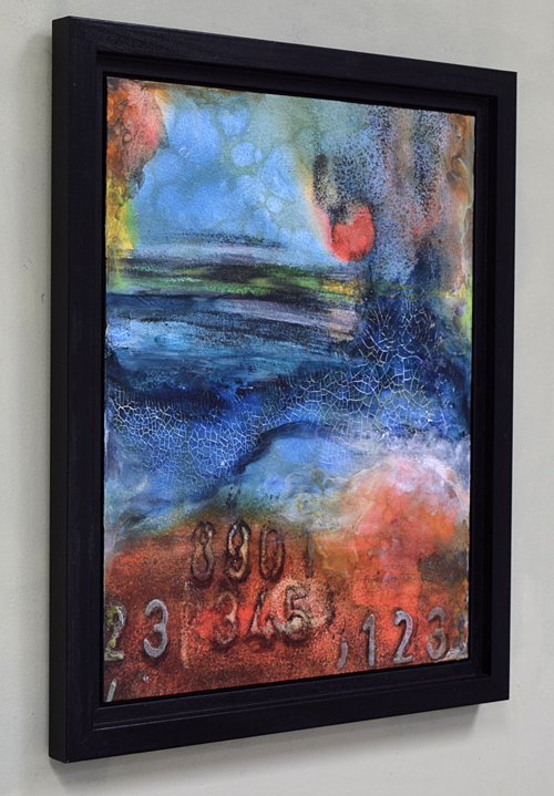 colorful acrylic abstract with numbers