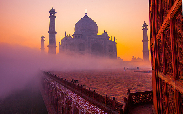Taj Mahal, Agra  IMAGES, GIF, ANIMATED GIF, WALLPAPER, STICKER FOR WHATSAPP & FACEBOOK
