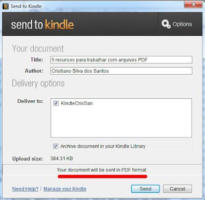 Envio de arquivo PDF