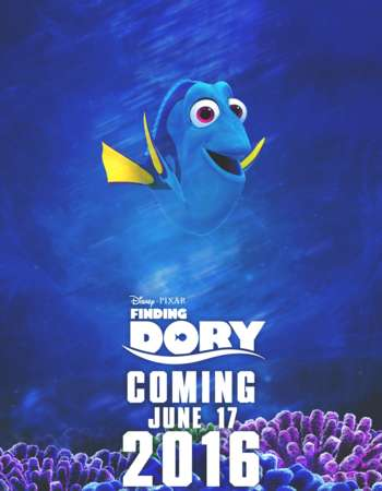 Poster Of Finding Dory 2016 English 300MB HDTS 480p Free Download Watch Online Worldfree4u