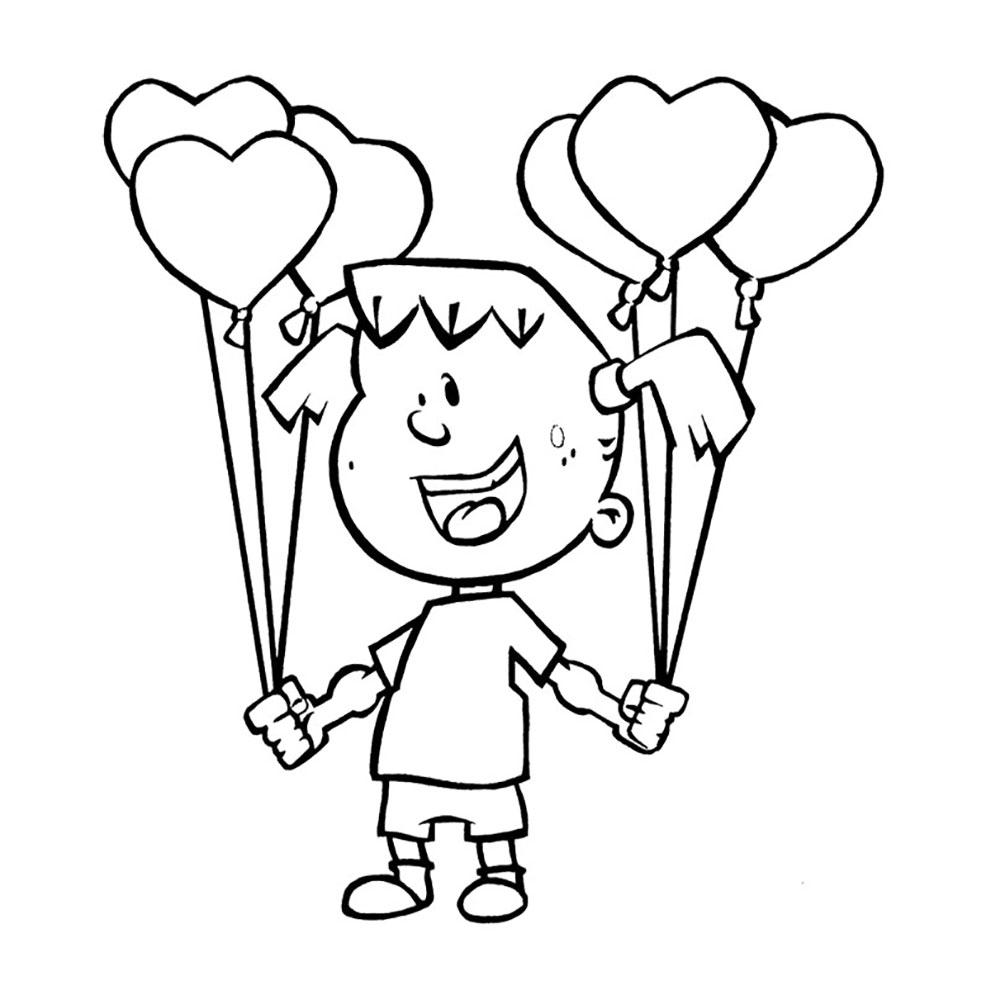 Mewarnai Gambar Balon Untuk Anak