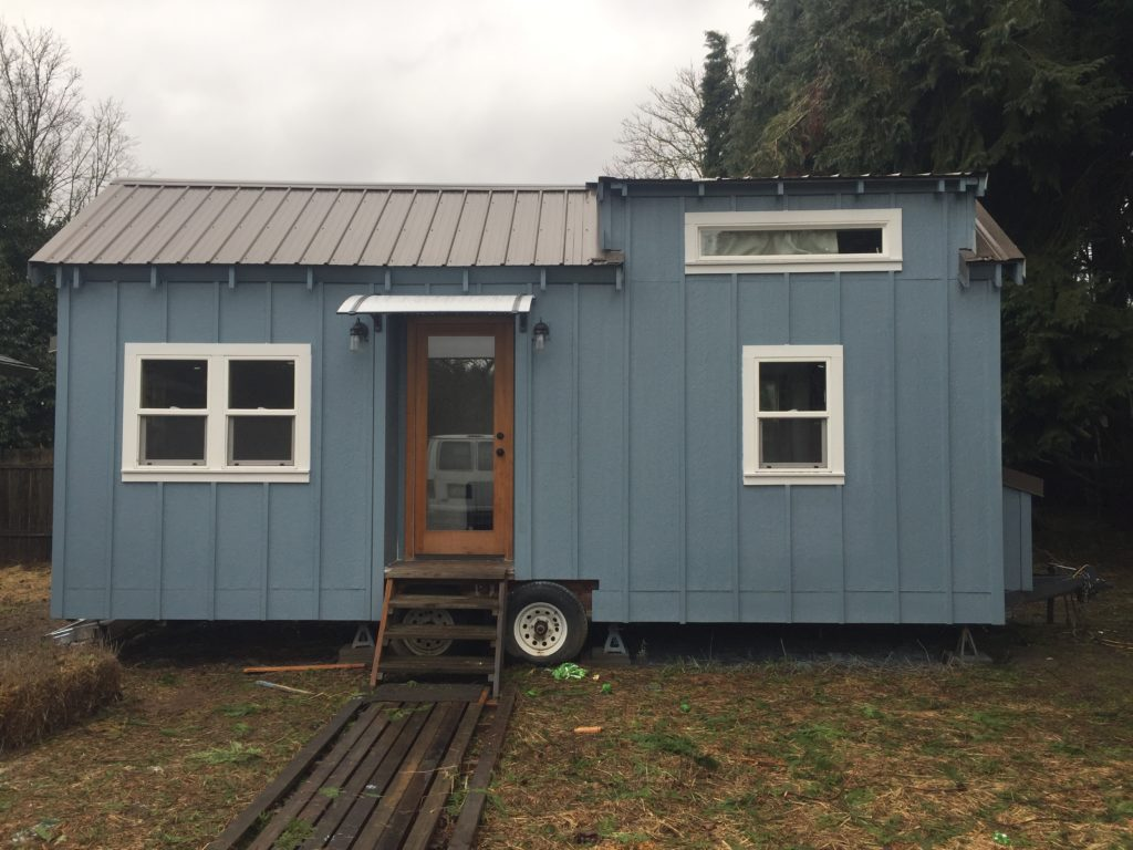 Blue Portland Tiny House 200 Sq Ft TINY HOUSE TOWN