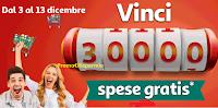 Logo Concorso ''Vinci 30.000 spese Gratis'': da Auchan, Simply, Punto e Bottega