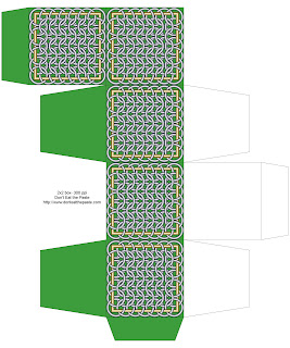 Chainmail inspired printable box- green