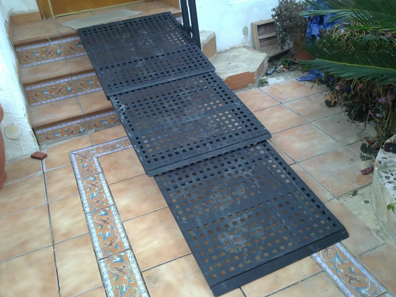 Rampa convertible en barandilla hierro acero minusv lidos for Sillas para escaleras minusvalidos