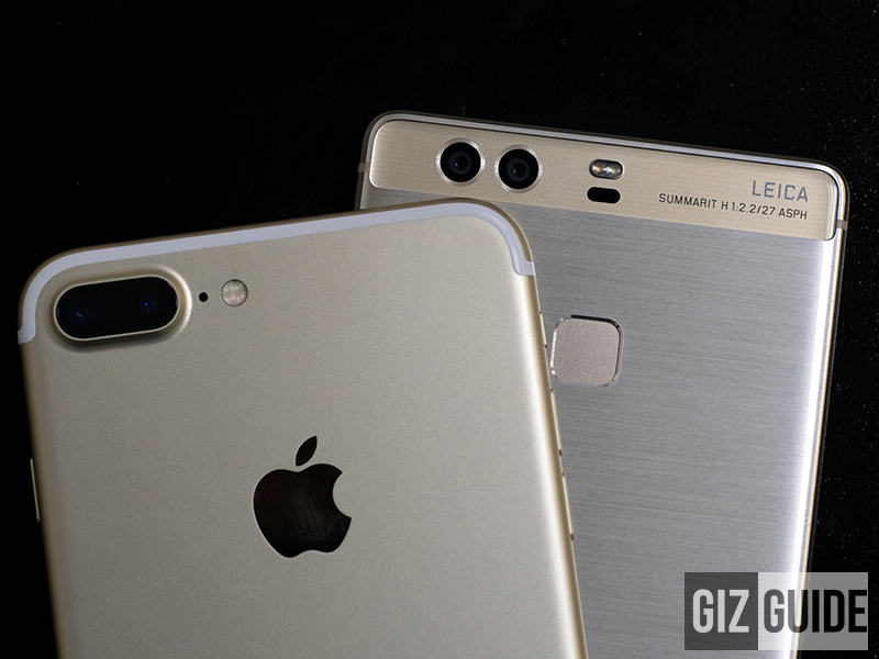 Apple iPhone 7 Plus and Huawei P9 Plus