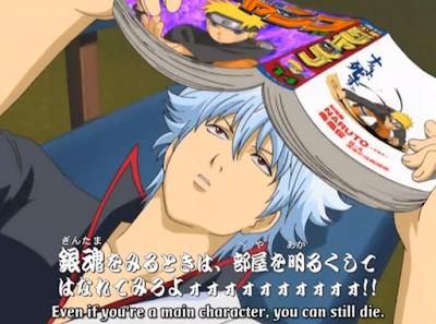 Gintoki membaca manga Naruto