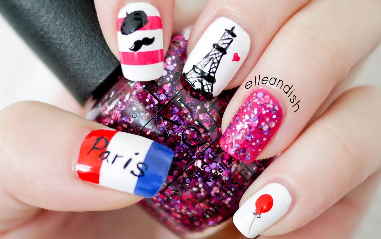 Paris inspired nail art ideas fall in love disneyland paris nail art prinsesfo Gallery