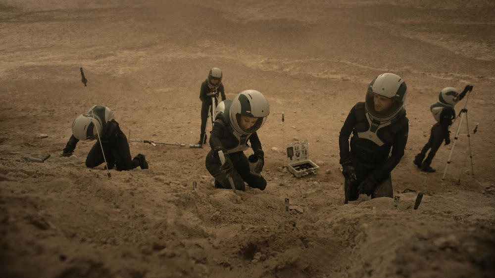 National Geographic 'Mars' TV series - season 2 (s02) - scientists discovering Martian fossils