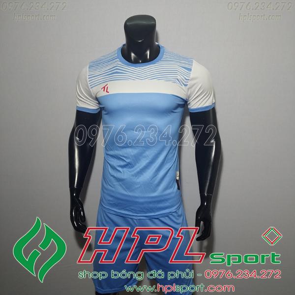 Áo bóng đá không logo TL HML Riyad màu xanh nhạt