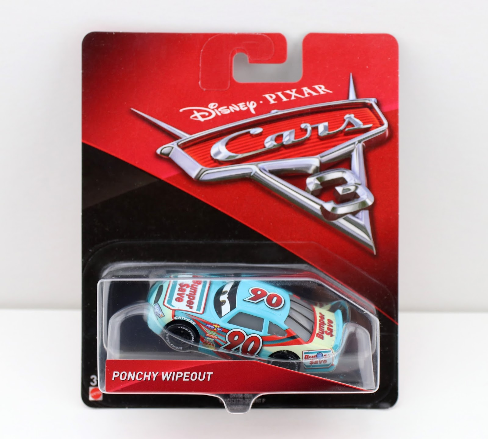 Cars 3: Ponchy Wipeout (Bumper Save) mattel diecast