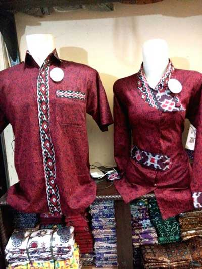 Baju Batik Couple Simple