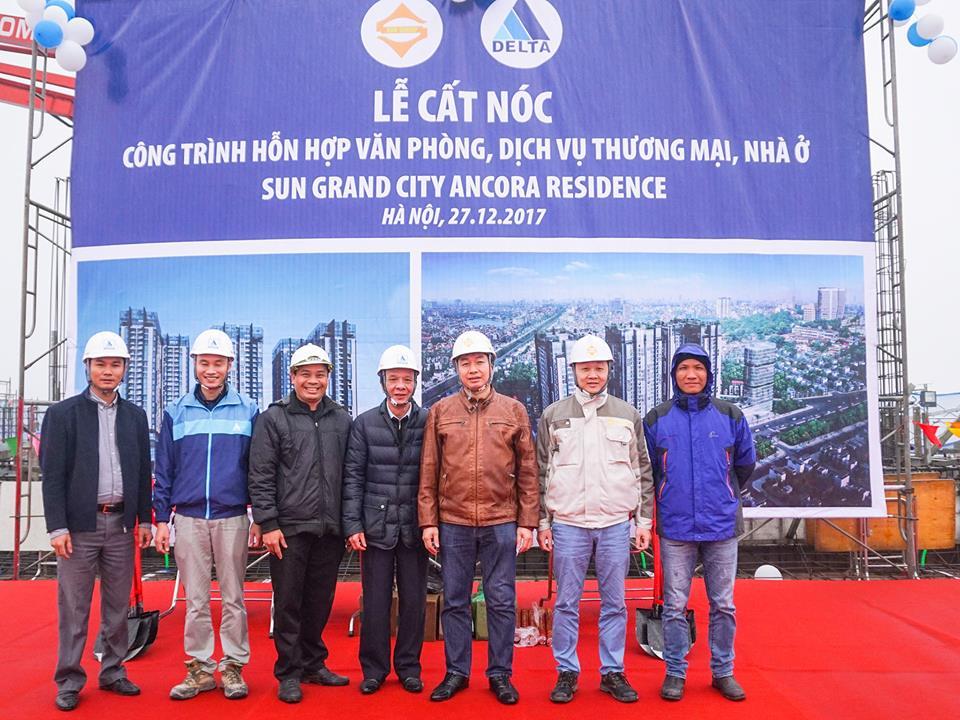 Chính thức cất nóc dự án Sun Group Lương Yên ngày 27/12/2017