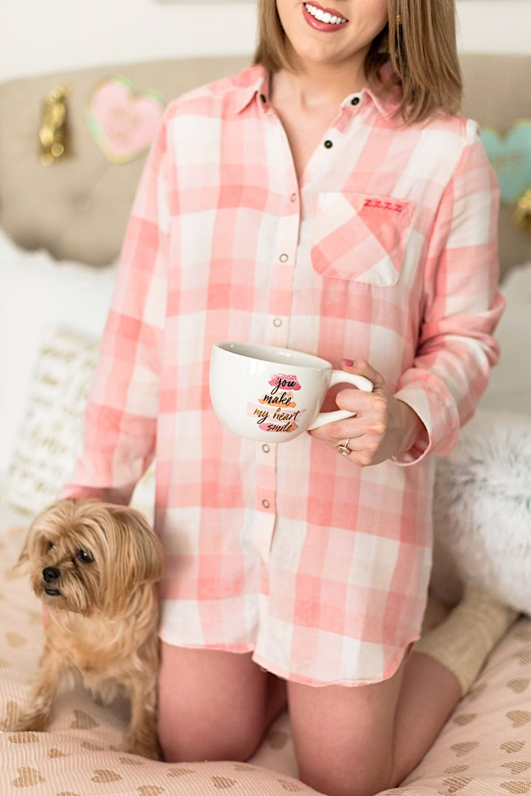 Pink Gingham Nightshirt - Click through to see more on Something Delightful Blog