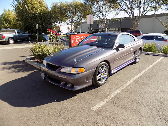 Mustang complete paint job changing purple to grey metallic @Almost-Everything Autobody