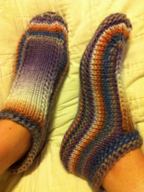 Slippers in the Round - Free Pattern