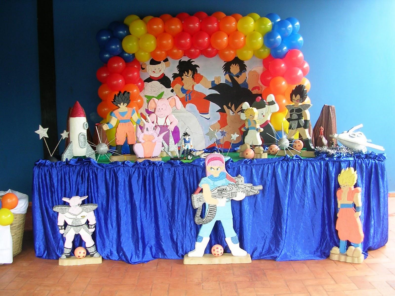 Abracadabra festas dragon ball z for Cuartos decorados de dragon ball z