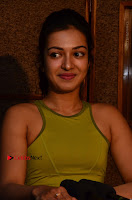 Actress Catherine Tresa Pos during Self Dubbing for Gautham Nanda Movie  0067.JPG