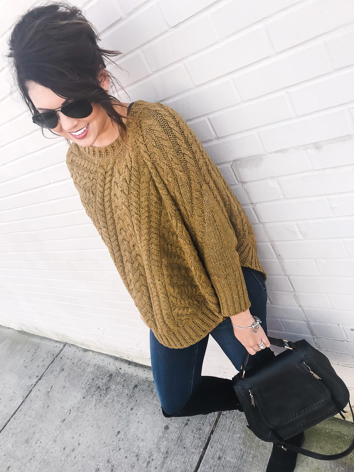 black friday sales, sweater poncho, anthropologie look, life and messy hair, xo samantha brooke