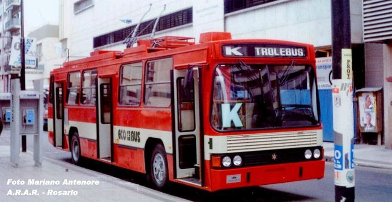Buses Rosarinos Retro Blog: La lnea K de troles en su ...