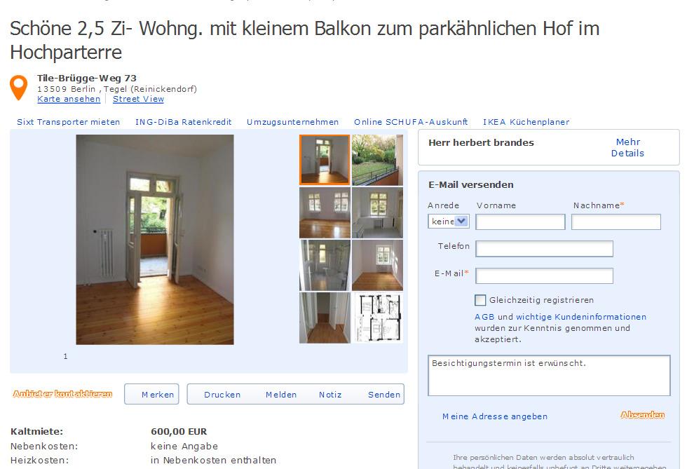 Hochparterre Wohnung Berlin