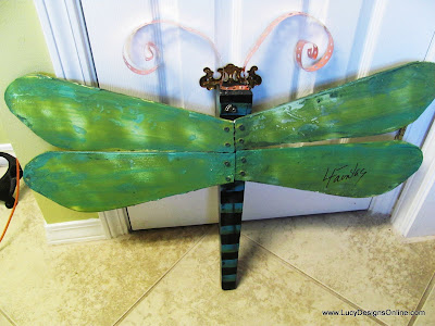 attach dragonfly wings fan blade dragonfly Lucy Designs