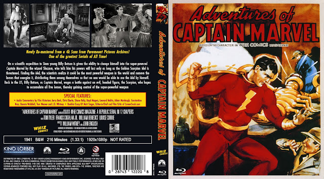Adventures Of Captain Marvel Bluray Cover