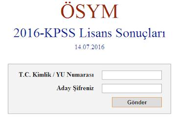 KPSS Lisans sınav sonuçları açıklandı