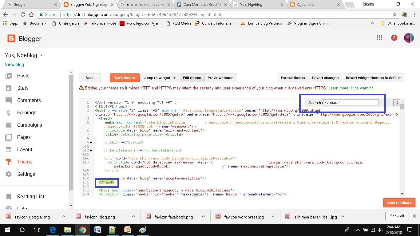cara mudah menambahkan read more pada blogspot edit html