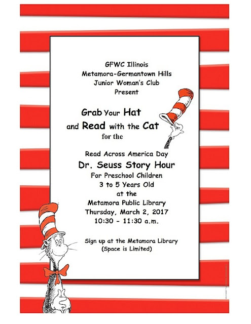 Metamora Herald cat in the hat read across america