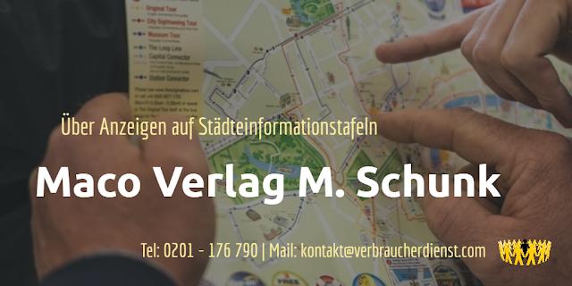 Maco Verlag M. Schunk  Städteinformationstafel