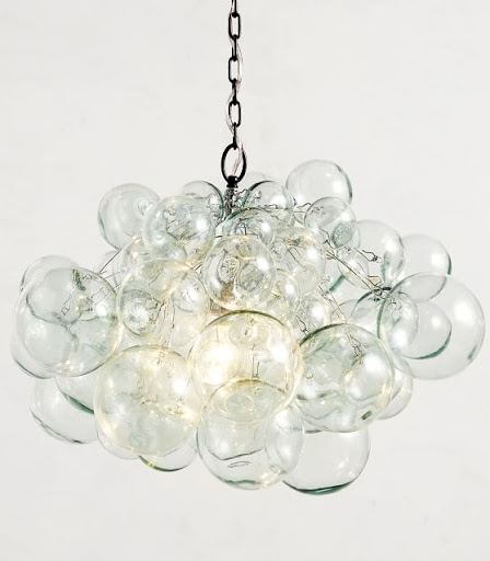 Recycled Glass Ball Chandelier