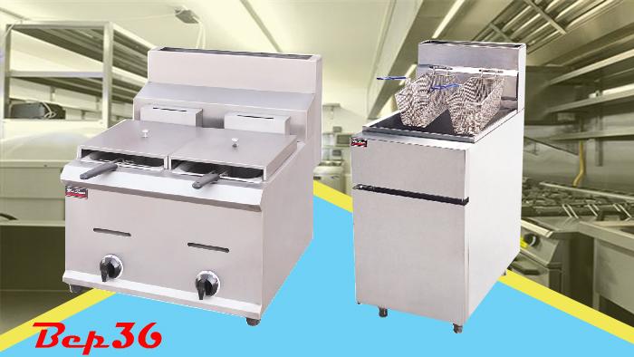 Tìm hiểu về sản phẩm bếp chiên nhúng công nghiệp đôi gas
