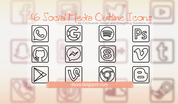outline, icons, free, download, facebook, gratis